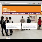 Pàgina principal de la web de Sant Andreu Contemporani