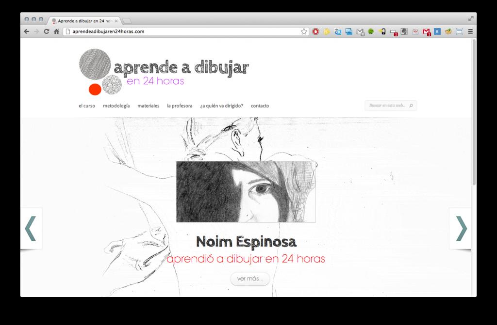 Pàgina principal de la web aprendeadibujaren24horas.com