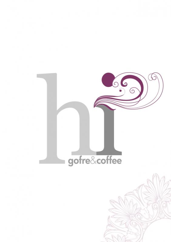 Aplicación imagen gráfica de Hi Gofre&Cofee (Carta)