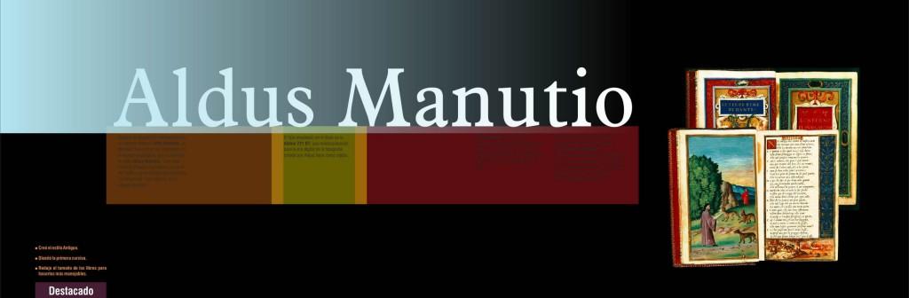 Maquetació de llibre - Coberta de capitol - Aldus Manutio