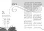 Maquetació de doble pàgina interior del número 2 de la revista Siwsiwez - Editorial